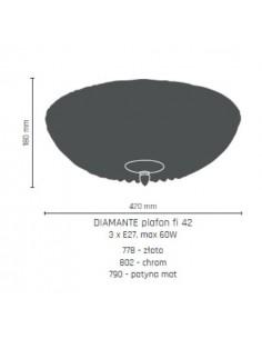 Plafon 42cm Diamante złoty Amplex 778
