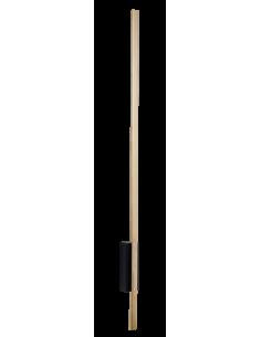 Kinkiet 1pł. Ebora czarno-złoty Amplex 0645