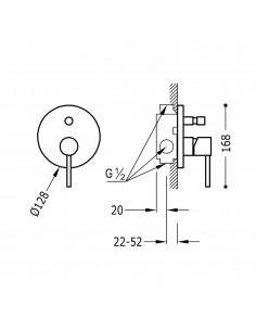 Tres Study Exclusive bateria wannowo-prysznicowa podtynkowa chrom 26218090