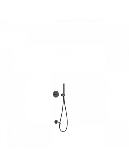 Tres Study Exclusive zestaw prysznicowy z baterią podtynkową czarny metalik 26218003KM