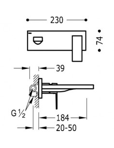 Bateria umywalkowa Tres Cuadro Exclusive podtynkowa czarny mat 00620003NM