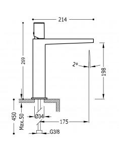 Tres Project bateria umywalkowa czarny mat 21120302NMD