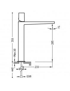 Tres Project bateria umywalkowa czarny mat 21180302NMD