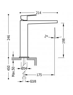 Tres Project bateria umywalkowa czarny mat 21120301NMD