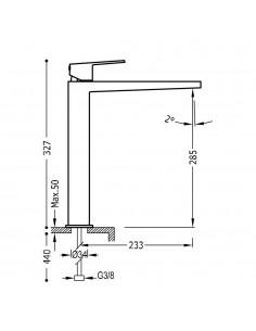 Tres Project bateria umywalkowa czarny mat 21180301NMD