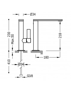Tres Project bateria umywalkowa czarny mat 21130501NMD