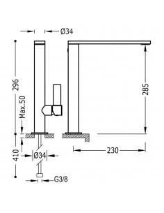 Tres Project bateria umywalkowa czarny mat 21140501NMD