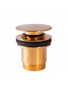 Odpływ umywalkowy Ø 63 mm CLICK‑CLACK w kolorze złotym 24284001OR