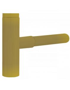 Teleskopowy zewnętrzny syfon umywalkowy W OBUDOWIE w kolorze złotym 16110342OR
