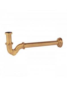Syfon z zaokrąglonej rury umywalkowy w kolorze złotym 03463820OR