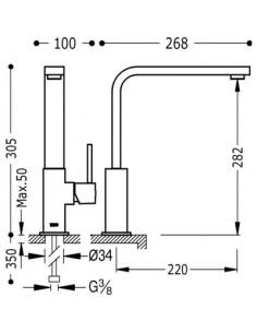Bateria kuchenna TRES COCINA EXCLUSIVE biały mat 030496BM