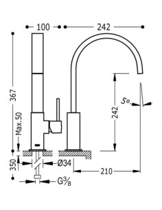 Bateria kuchenna TRES COCINA EXCLUSIVE biały mat 030498BM