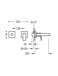 PROJECT COLORS Bateria podtynkowa złota Tres 21120281OR