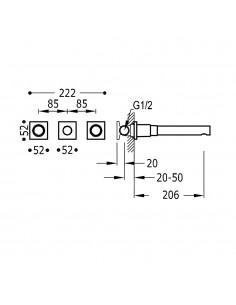 Tres Project bateria kuchenna podtynkowa czarny mat 21175201NM