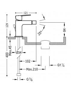 Tres Project bateria bidetowa czarny mat 21112001NMD
