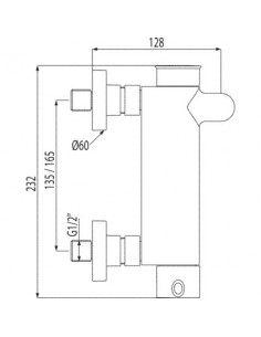 Bateria wannowo-prysznicowa Tres Alplus chrom 20317001