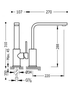 Bateria kuchenna TRES COCINA EXCLUSIVE biały mat 062435BM