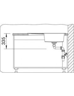 Zlewozmywak kuch. stalowa odsączarka, wpuszczany, odwracalny BLANCO METRA 6S 1000x500 mm korek automatyczny, perłowoszary 520577