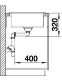 Zlewozmywak kuchenny, wpuszczany, odwracalny BLANCO METRA XL 6S 1000x500 mm korek automatyczny, alumetalik 515279