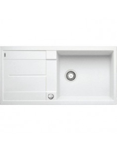 Zlewozmywak kuchenny, wpuszczany, odwracalny BLANCO METRA XL 6S 1000x500 mm korek automatyczny, biały 515280