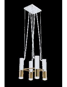 Lampa wisząca 1pł. kavos czarno-złota Amplex 0382