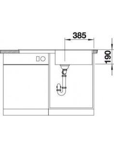 Zlewozmywak kuchenny, wpuszczany, odwracalny BLANCO METRA XL 6S 1000x500 mm korek manualny, antracyt 515142