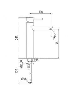 Bateria umywalkowa Tres Alplus podwyższona chrom 20321701