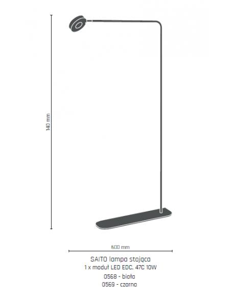 Lampa stojąca Saito czarna Amplex 0569