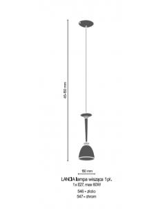 Lampa wisząca 1pł. Lancia złota Amplex 546
