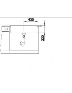 Zlewozmywak kuchenny, wpuszczany, nieodwracalny BLANCO NAYA XL 9 860x510 mm korek manualny, szarość skały 521813