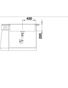Zlewozmywak kuchenny, wpuszczany, nieodwracalny BLANCO NAYA XL 9 860x510 mm korek manualny, perłowoszary 521815