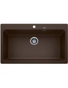 Zlewozmywak kuchenny, wpuszczany, nieodwracalny BLANCO NAYA XL 9 860x510 mm korek manualny, kawa 521820