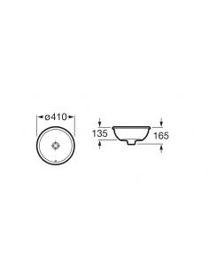 Umywalka podblatowa fi 40 Roca Foro A3278840000