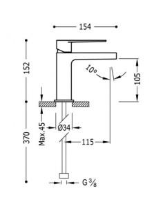 Bateria umywalkowa Tres Class-Tres chrom 20510301