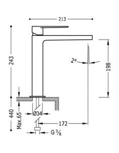 Bateria umywalkowa Tres Class-Tres chrom 20510303