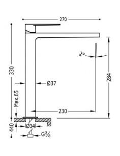 Bateria umywalkowa Tres Class-Tres chrom 20510305