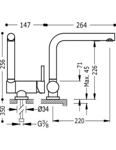 Bateria kuchenna podokienna TRES Abatible COCINA EXCLUSIVE biały mat 030335BM