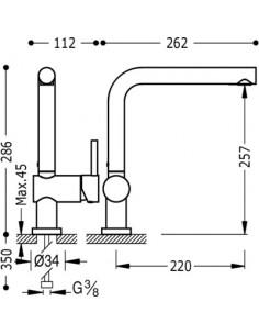 Bateria kuchenna TRES COCINA EXCLUSIVE biały mat 030336BM