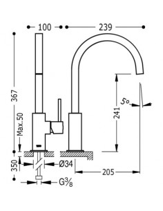 Bateria kuchenna TRES COCINA EXCLUSIVE biały mat 030497BM