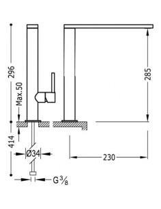 Bateria kuchenna TRES COCINA EXCLUSIVE chrom 06248801