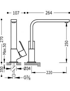Bateria kuchenna TRES COCINA EXCLUSIVE chrom 106440