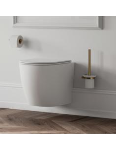 Miska wisząca WC bezrantowa + deska wolnoopadająca Omnires OTTAWA OTTAWAMWBP