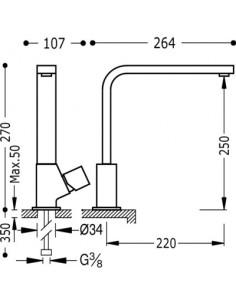 Bateria kuchenna TRES COCINA EXCLUSIVE chrom 107440