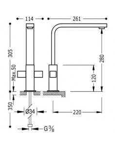 Bateria kuchenna TRES COCINA EXCLUSIVE chrom 108496