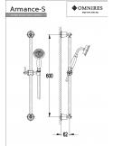Zestaw prysznicowy Omnires Amarance suwany, 1-funkcyjny, chrom Armance-S CR