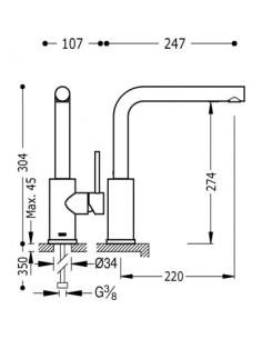Bateria kuchenna TRES COCINA EXCLUSIVE chrom 162436