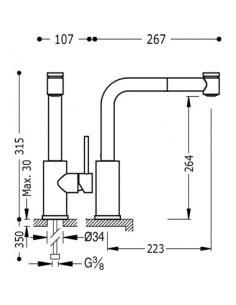 Bateria kuchenna TRES COCINA EXCLUSIVE chrom 162438