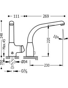 Bateria kuchenna elektroniczna TRES COCINA EXCLUSIVE chrom 192445