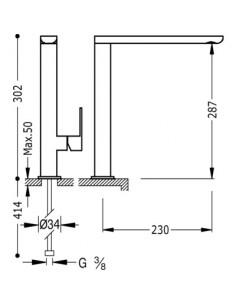Bateria kuchenna TRES COCINA EXCLUSIVE czarna/chrom 20044001NE