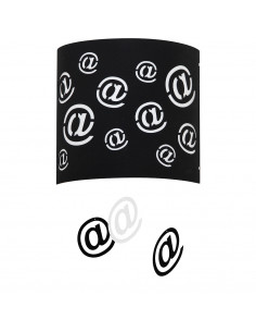 Lampa 1-pł. ALDEX MAIL czarna 703C/1